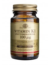 SOLGAR Vitamin K1 100ug Tabs 100s