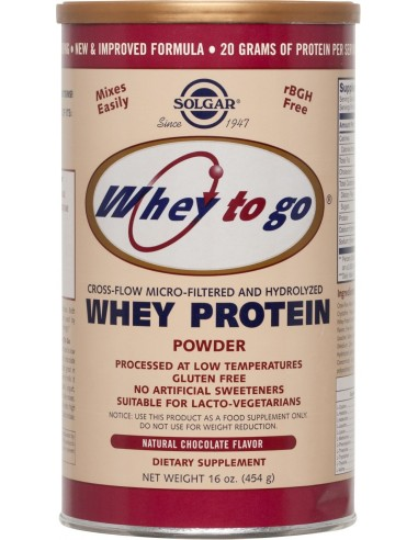SOLGAR Whey to go Protein Chocolate...
