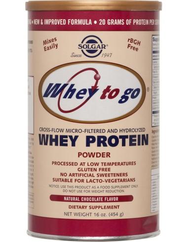 SOLGAR Whey to go Protein Chocolate powder 454gr