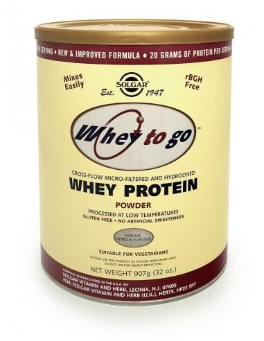 SOLGAR Whey to go Protein Vanilla powder 907gr