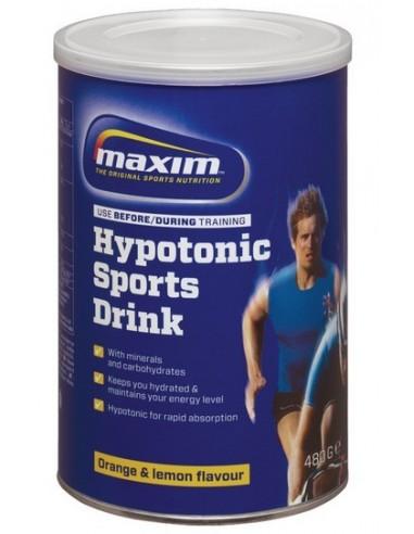 MAXIM HYPOTONIC SPORTS DRINK ORANGE & LEMON FLAVOUR 480gr powder