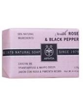 APIVITA NATURAL SOAP ROSE & BLACK PEPPER 125 gr