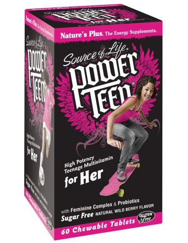NATURE'S PLUS SOURCE OF LIFE POWER TEEN FOR HER 60 chewable tabs