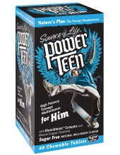 NATURE'S PLUS SOURCE OF LIFE POWER TEEN FOR HIM 60 chewable tabs