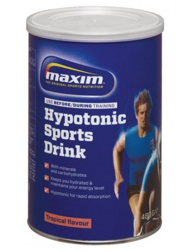 MAXIM HYPOTONIC SPORTS DRINK TROPICAL FLAVOUR 480gr