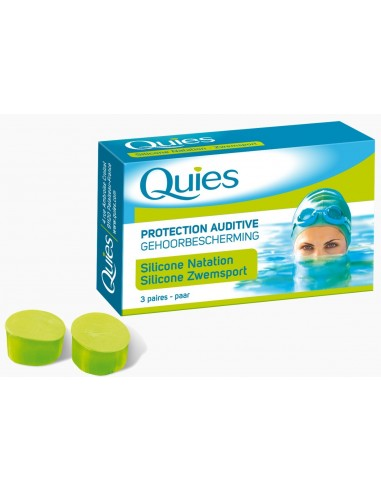 QUIES EARPLUGS SILICONE NATATION 3 paires