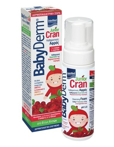 INTERMED BabyDerm Junior Cran Cleansing Foam 150 ml