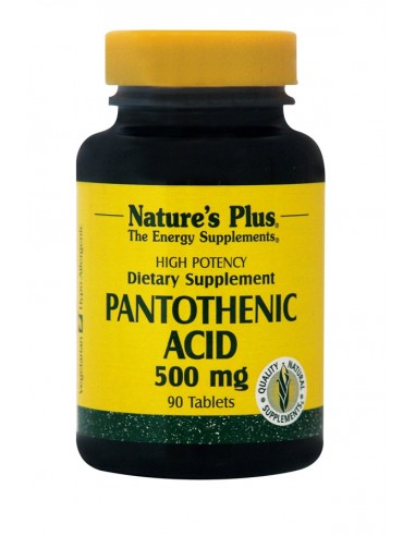 NATURE'S PLUS Pantothenic Acid 500 mg 90 Tabs