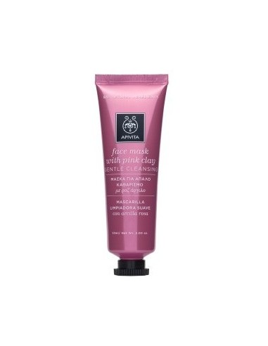 APIVITA Face Mask With Pink Clay 50 ml