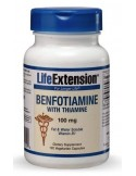 LIFE EXTENSION Benfotiamine 100mg with Thiamine 120 Veg. Caps