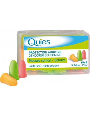 QUIES EARPLUGS MOUSSE CONFORT 3 paires