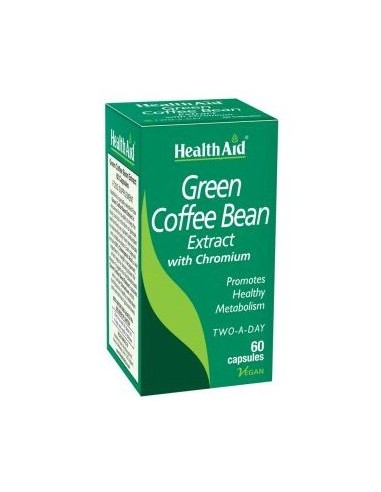 HEALTH AID GREEN COFFEE BEAN EXTRACT WITH CHROMIUM 60 caps