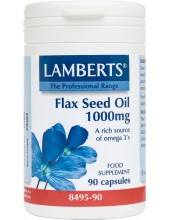LAMBERTS Flax Seed Oil 1000mg 90 Caps