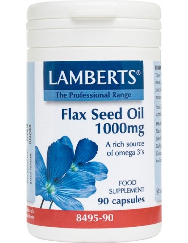 LAMBERTS Flax Seed Oil 1000mg 90 Caps