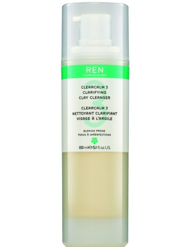 REN CLEARCALM3 CLARIFYING CLAY CLEANSER 200ML