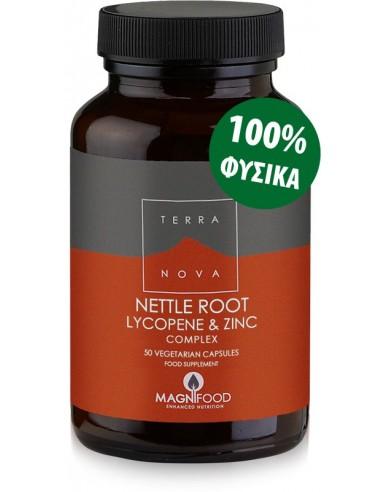 TERRANOVA Lycopene Zinc Nettle Root - Prostate Support 50 veg. Caps