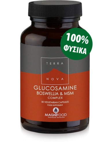 TERRANOVA Glucosamine, Boswellia & ΜSM Joint Support Complex 50 veg. Caps