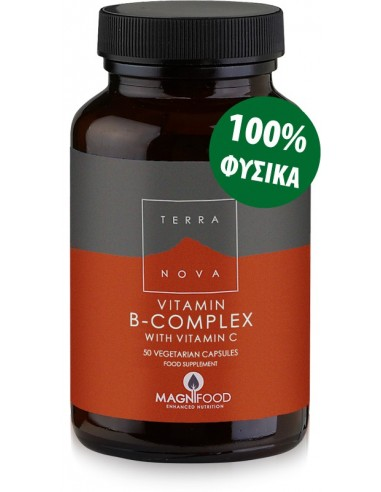 TERRANOVA B-Complex with Vitamin C 50 veg. Caps