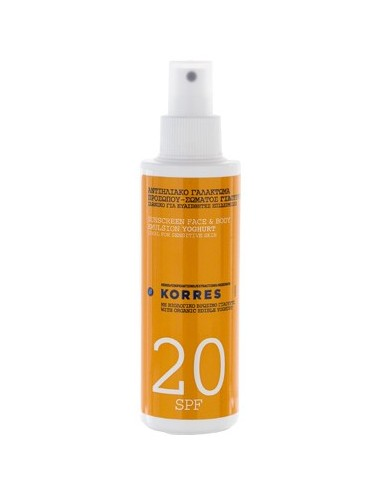 KORRES SUNSCREEN FACE & BODY EMULSION YOGURT 20SPF 150ML