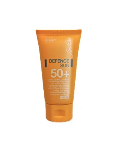 BIONIKE Defence Sun SPF 50+ Tinted Sun Cream Very High Protection Natural 50ml
