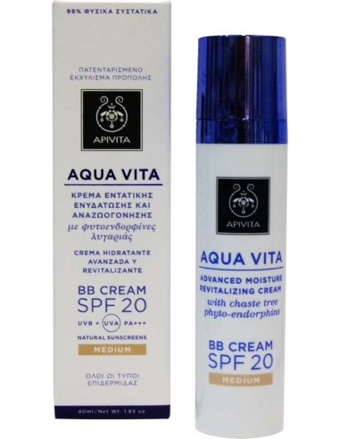 APIVITA Aqua Vita BB Cream SPF 20 Medium 40ml
