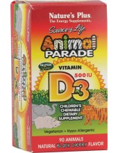 NATURE' S PLUS Animal Parade Vitamin D3 500iu 90 Animals