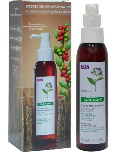 KLORANE Anti-hair loss serum (δυναμωτικός ορός) with active Quinine-Caffeine complex 125ml