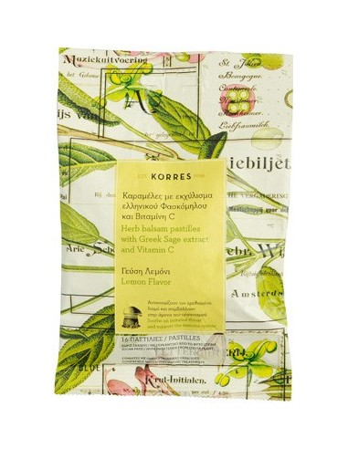 KORRES Herb Balsam Pastilles with Greek Sage extract & Vitamin C 16 Pastilles