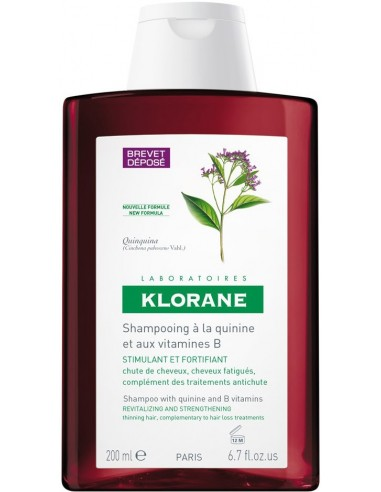 KLORANE Shampoo with Quinine and B Vitamins (εκχύλισμα κινίνης) 200ml
