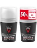 VICHY HOMME DEODORANTE ANTI-TRANSPIRANTE 48h 50 ml + 50% στο 2ο Προϊόν