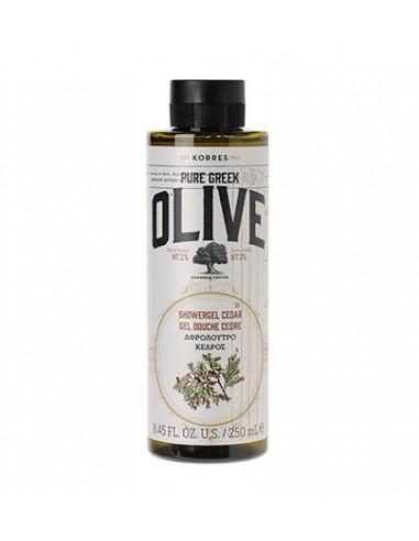 KORRES Pure Greek Olive Showergel Cedar - Αφρόλουτρο Κέδρος 250ml