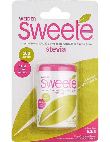 WEIDER Sweete Stevia 100 δισκία (6,2g)