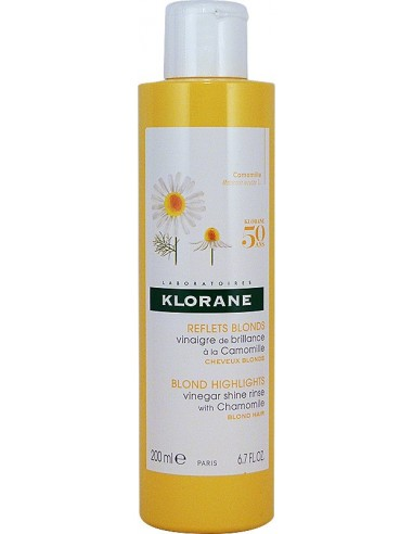 KLORANE Blond Highlights Vinegar Shine Rinse with Chamomile 200ml