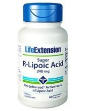 LIFE EXTENSION Super R-Lipoic Acid 240mg 60 Veg.Caps
