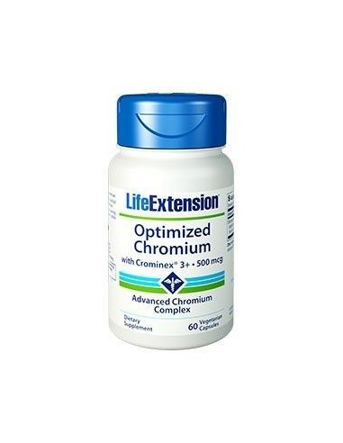 LIFE EXTENSION Optimized Chromium with Crominex 3+ 500mcg, 60 Veg.Caps