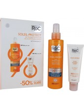 ROC Soleil Protect Lait Hydratant Spray Lotion SPF30 200ml ΣΕΤ με ROC Antiwrinkle Smoothing Fluid SPF50+ 50ml