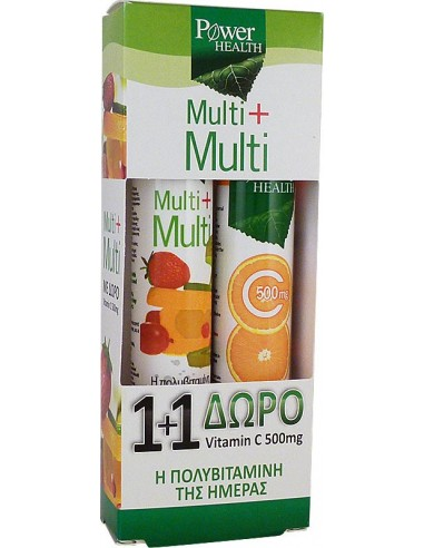Power Health Multi + Multi, αναβράζοντα 20s + ΔΩΡΟ Vitamin C 500mg