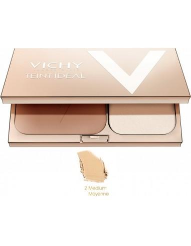 Vichy Teint Ideal Fond de teint Lumiere Poudre Compact 02 Medium - Moyenne 9,5g