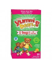 HERO YUMMI BEARS Fish Free Omega-3 with Chia Seeds 90 gummy bears