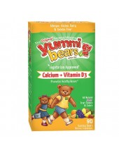 HERO YUMMI BEARS Calcium & Vitamin D3 90 gummy bears