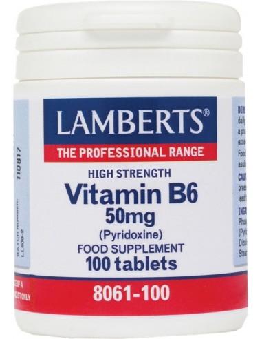 LAMBERTS B-6 50 mg  (Pyridoxine) 100tabs