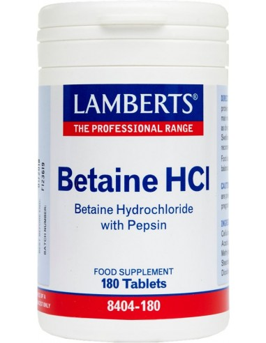 LAMBERTS Betaine HCI 324mg/Pepsin 5mg 180 tabs
