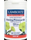 LAMBERTS Evening Primrose Oil with Starflower Oil 1000mg 12% GLA 90 Caps