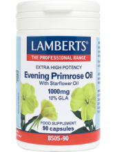 LAMBERTS Evening Primrose Oil with Starflower Oil 1000mg 12% GLA 90 Caps