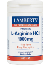 LAMBERTS L-Arginine HCL 1000mg 90 Tabs