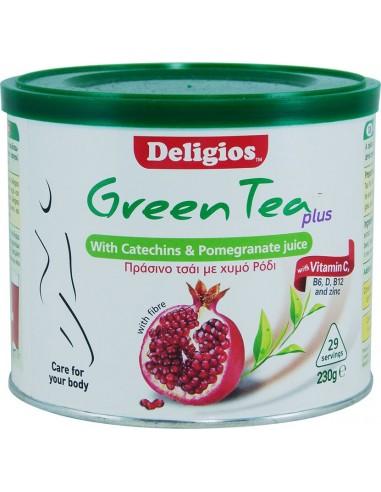 Deligios GREEN TEA PLUS με Ρόδι 230 gr