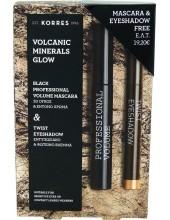KORRES Volcanic Minerals Glow Black Professional Volume maskara & Twist Eyeshadow 11