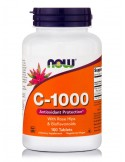 NOW C-1000 with Rose Hips & Bioflavonoids 100 Tabs