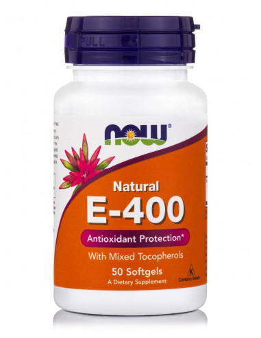 NOW E-400 Natural Mixed Tocopherols 50 Softgels