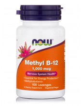 NOW Methyl B-12 1000 mcg Methylcobalamin 100 Lozenges